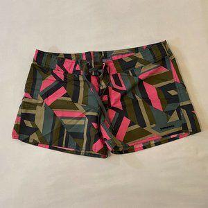Patagonia Board Swim Shorts Sz 8 Nylon Pink Green